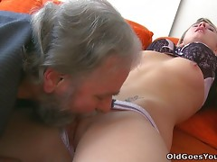 This Teen Knows How To Show Her Hot Lust To An Old Man