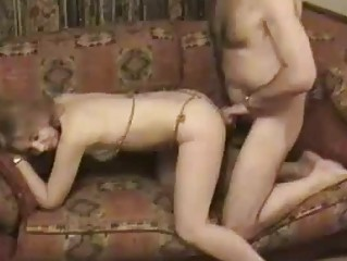 Old Married Couple Have Sex On The Couch