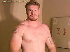 Ginger Muscle Hunk Jerk Off & Cum