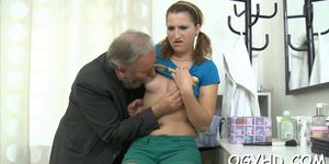 Horny  Babe Screwed By Old Guy   Video 3
