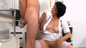 Old Granny Doctor Is Playing With Her Patitent Cock