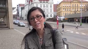 Czech Streets   Czech Granny With Natural Tits Fucked On Public