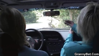 70 Years Old Grandma Gets Plumbed Roadside