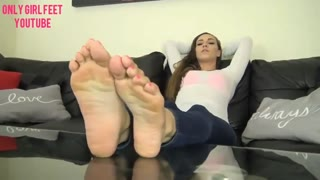 Only Sweetheart Toes   Sasha Foxx Perfect Colossal Toes Feet Whit Socks