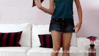 Nubiles Try Out   Will A Messy Facial Cumshot Get Her Precisely The Job?